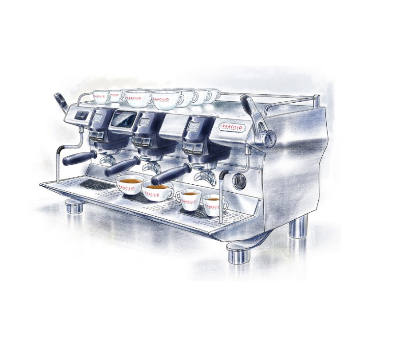 Rancilio Specialty, 3 Group, Drawing