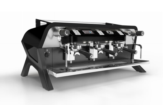 The 3 Group F.18 espresso machine by Sanremo Coffee Machines in Black and Matte Black